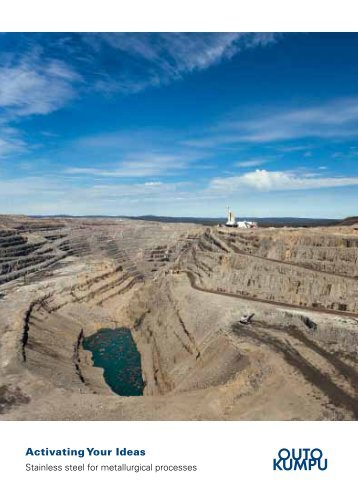 Stainless Steel for Mining - brochure - Outokumpu