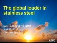 Interim Report January-March 2013 presentation - Outokumpu
