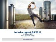 Interim report Q3/2011 20 October 2011 Mika ... - Outokumpu