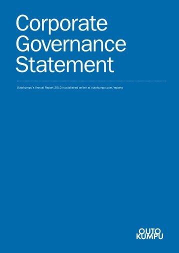 Corporate Governance Statement 2012 - Outokumpu