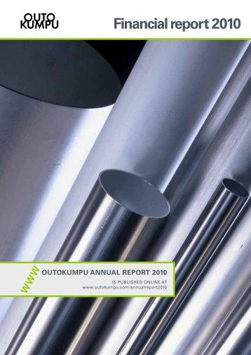 Financial report 2010 - Outokumpu