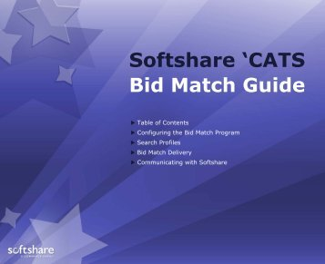 Softshare Profiling Reference Manual - OutreachSystems.com
