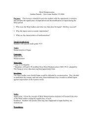 Meiji Modernization Andrea Dumolt - East Asian Studies 3-9 ... - NCTA