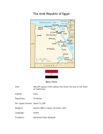 Egypt--Country Profile - Outreach World