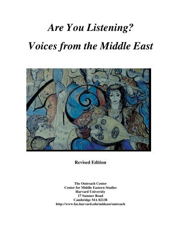 Are You Listening? Voices from the Middle East - The Center for ...