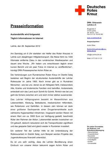 28. September 2012 - Ortsverein Lehrte - DRK