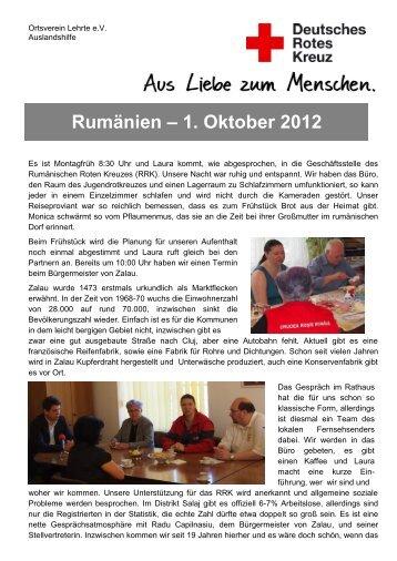 Rumänien – 1. Oktober 2012 - Das Rote Kreuz in Lehrte