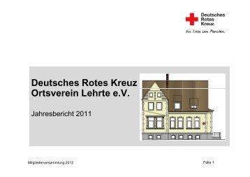 Haushaltsplan 2012 - Ortsverein Lehrte - DRK