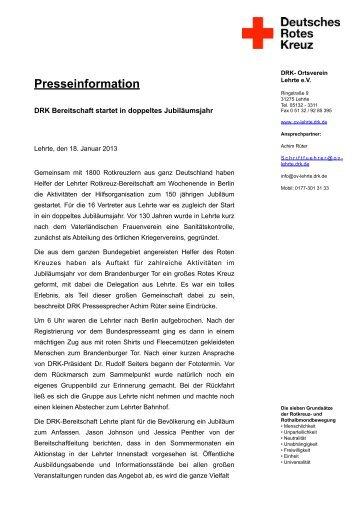 20130118_Bereitschaft 130 Jahre - Ortsverein Lehrte - DRK