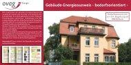 Gebäude-Energieausweis - bedarfsorientiert - - ovag Energie AG