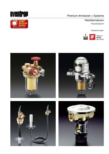 Heizölarmaturen Premium Armaturen + Systeme - Oventrop