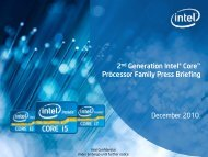 2nd Generation Intel® Core™ Processor Family ... - O.v.e.r.clockers.at