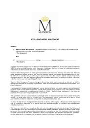 EXCLUSIVE MODEL AGREEMENT - O.v.e.r.clockers.at