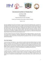 Report - Bucharest - International Ecumenical Peace Convocation
