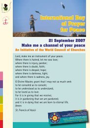IDPP Brochure 2007 - International Ecumenical Peace Convocation