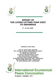 Indonesia Living Letter report - International Ecumenical Peace ...