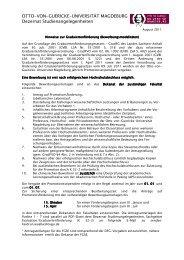 Graduiertenförderung - Otto-von-Guericke-Universität Magdeburg