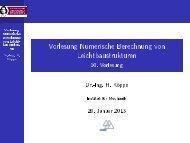 Vorlesung Numerische Berechnung von Leichtbaustrukturen - 10 ...