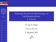 Vorlesung Numerische Berechnung von Leichtbaustrukturen - 6 ...