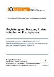 Mentoren BbS - Otto-von-Guericke-Universität Magdeburg