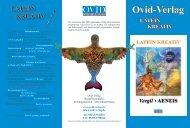 Verlagsprogramm 2012 - Ovid-Verlag