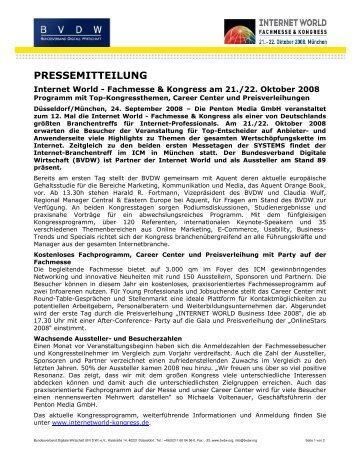 PRESSEMITTEILUNG - OVK