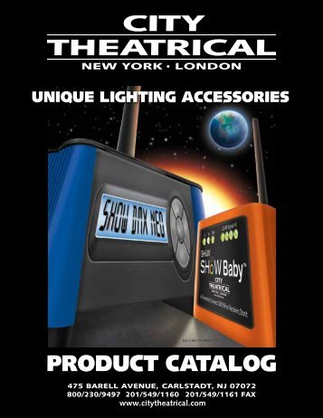 PRODUCT CATALOG - City Theatrical