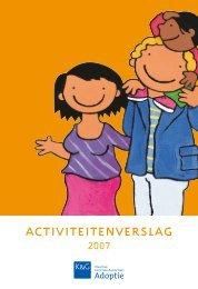 Activiteitenverslag Adoptie 2007 - Kind en Gezin