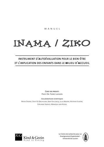 Inama / Ziko • instrument d'autoévaluation pour le bien-être et l ...