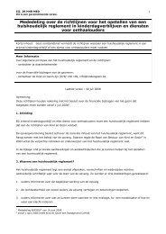 Mededeling over de richtlijnen voor het opstellen ... - Kind en Gezin