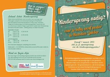 Meer weten over de Kinderopvangzoeker in ... - Kind en Gezin