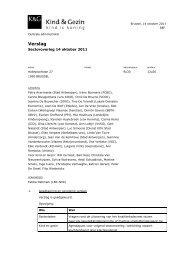 verslag 14 10 2011 - Kind en Gezin