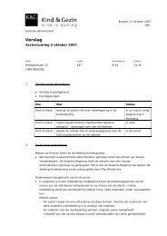verslag 05 10 2007 - Kind en Gezin