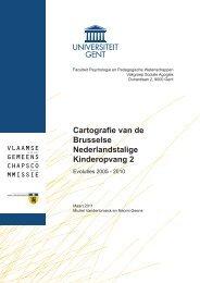 Cartografie van de Nederlandstalige Brusselse kinderopvang 2
