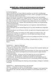 Besluit van de Vlaamse Regering betreffende het ... - Kind en Gezin
