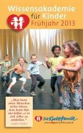 Wissensakademie Folder SS2013 - Kinderfreunde