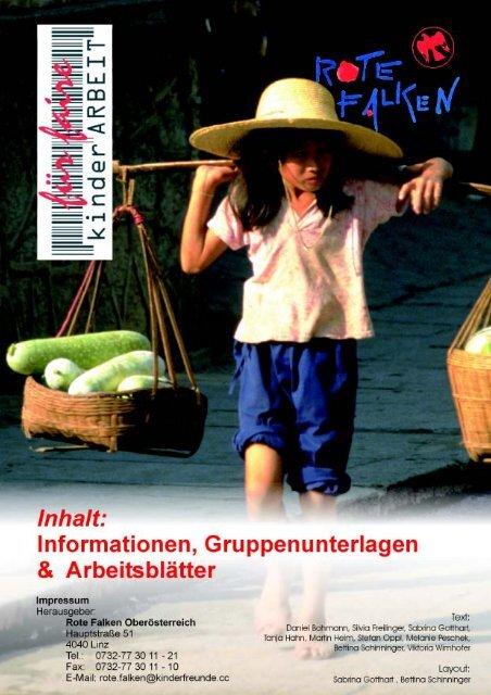Mappe_Für faire Kinderarbeit - Kinderfreunde Oberösterreich