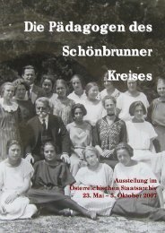 Die Pädagogen des Schönbrunner Kreises - Kinderfreunde