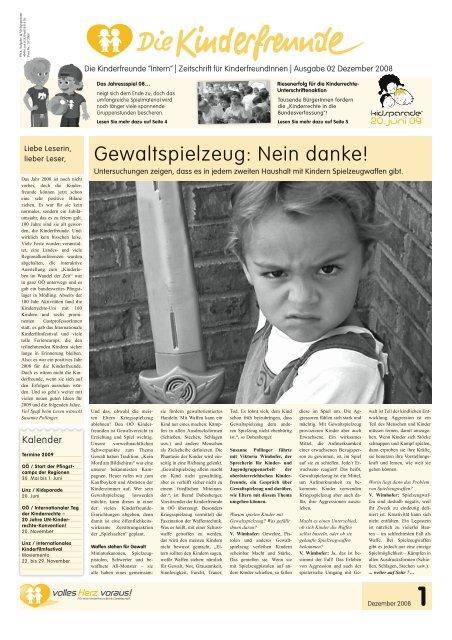 Ausgabe 02/08 - Kinderfreunde Oberösterreich
