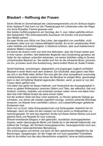 Theaterkritik von Harald Heidenreich