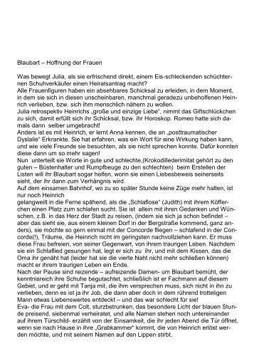 Theaterkritik von Jutta Kalinkus-Floetenmeyer