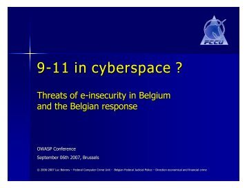 9-11 in cyberspace ? - owasp
