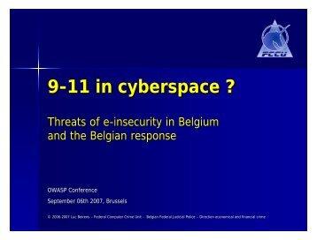 9-11 in cyberspace ? - owasp