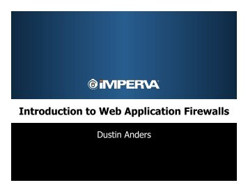 Introduction to Web Application Firewalls.pptx - owasp