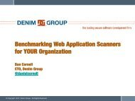 Benchmarking Web Application Scanners for YOUR ... - owasp