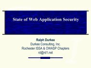 Stat of Web Application Security - owasp
