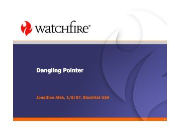 Dangling Pointer - owasp