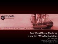 Real World Threat Modeling Using the PASTA Methodology - owasp