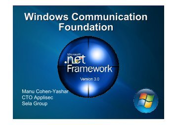 Windows Communication Foundation - owasp