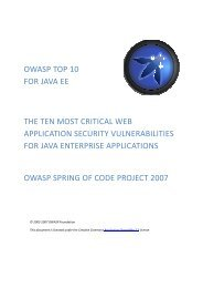 owasp top 10 for java ee the ten most critical web application ...
